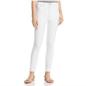 Rag & Bone | high rise ankle skinny white jeans